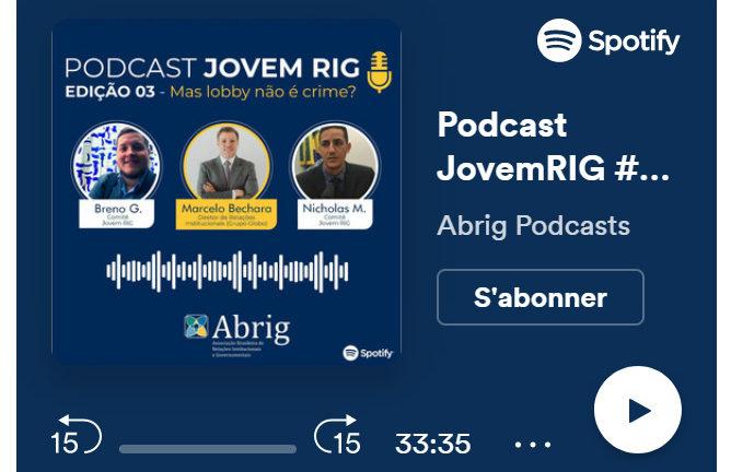 Entrevista de Marcelo Bechara aos jovens profissionais de relações institucionais – Podcast Jovem RIG